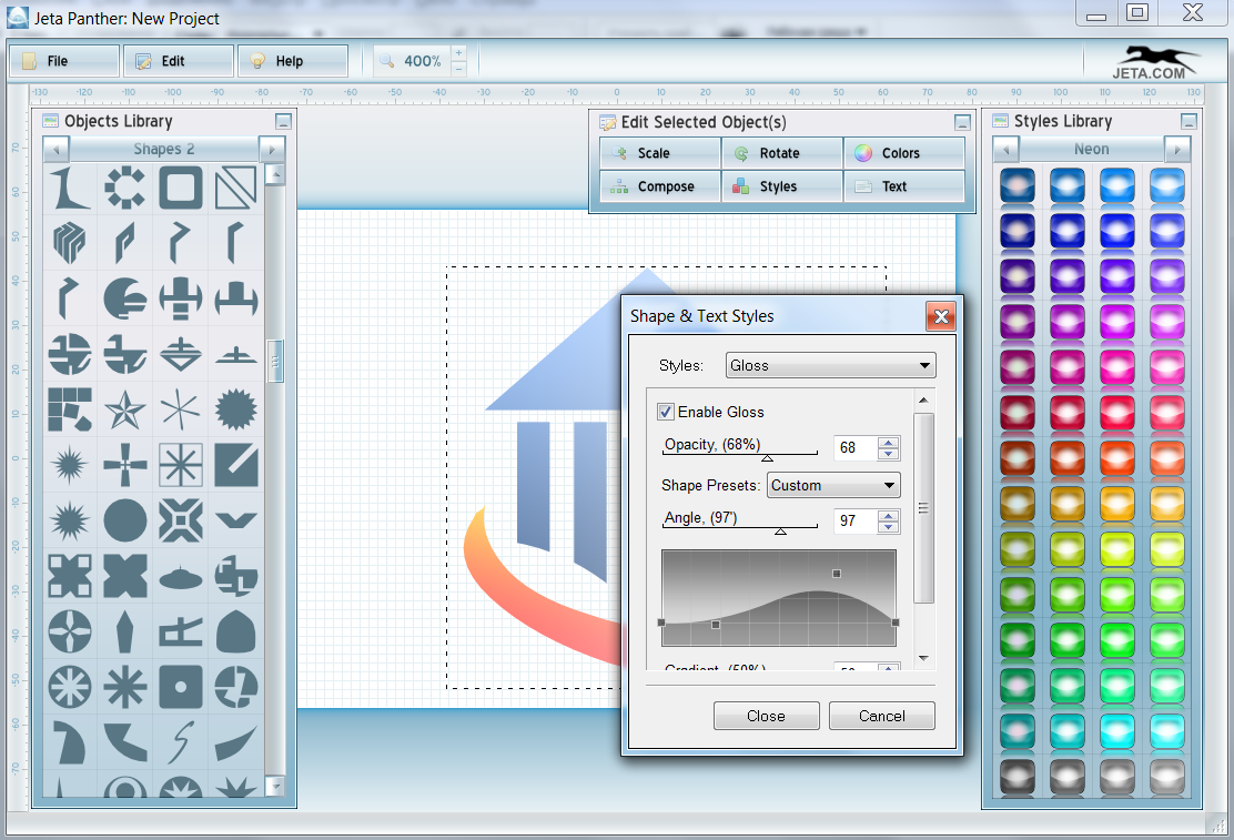 Jeta logo creator free logo software for Program design tools
