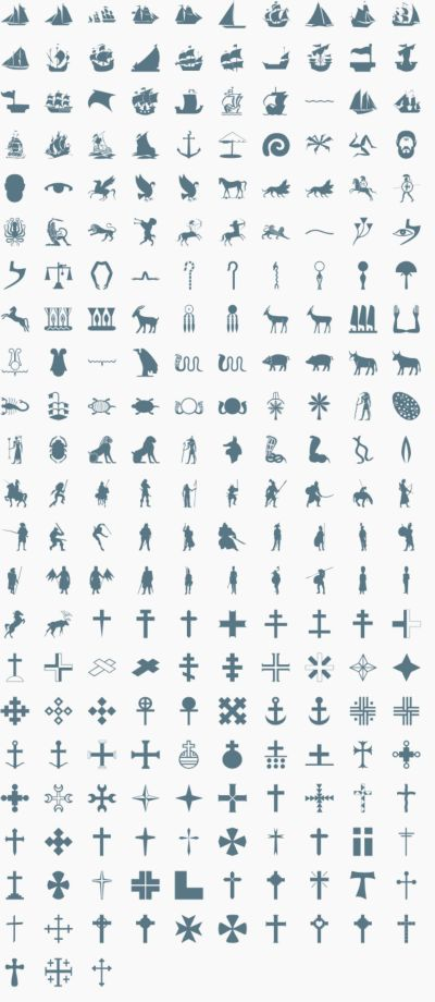 Ancent and Religious vector signs