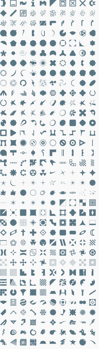 Vector logo shapes 2