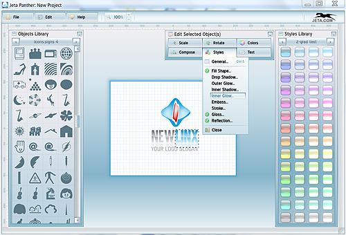 Jeta Screenshot: Workspace Window