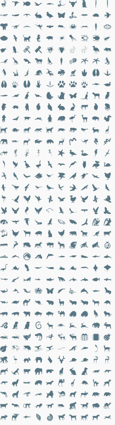Animal vector icons & signs