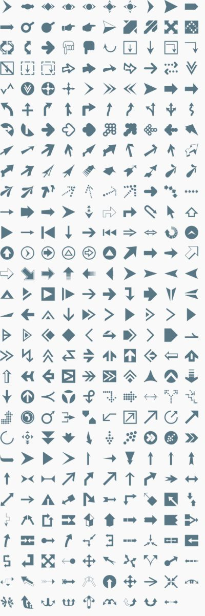 Vector arrow shapes